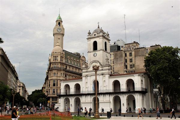 LE BATIMENT DU CONSEIL MUNICIPAL PLACE DE MAYO A BUENOS AIRES ARGENTIN