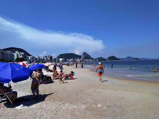 LA PLAGE DE COPACABANA A RIO DE JANEIRO BRESIL