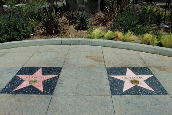 WALK OF FAME LE 2 PREMIERES ETOILES DE VEDETTES COTE OUEST HOLLYWOOD LOS ANGELES CALOFORNIE