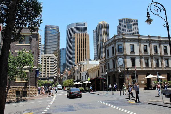 QUARTIER THE ROCKS ET LA CITY  SYDNEY AUSTRALIE
