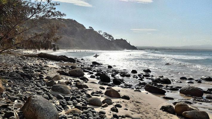 PLAGE ET SPOT DE SURF BYRON BAY AUSTRALIE