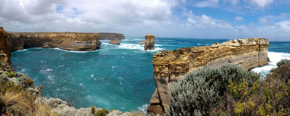 FALAISES THE ISLAND ARCHWAY ET THE RAZORBACK A LOCH ARD GORGE GREAT OCEAN ROAD AUSTRALIE