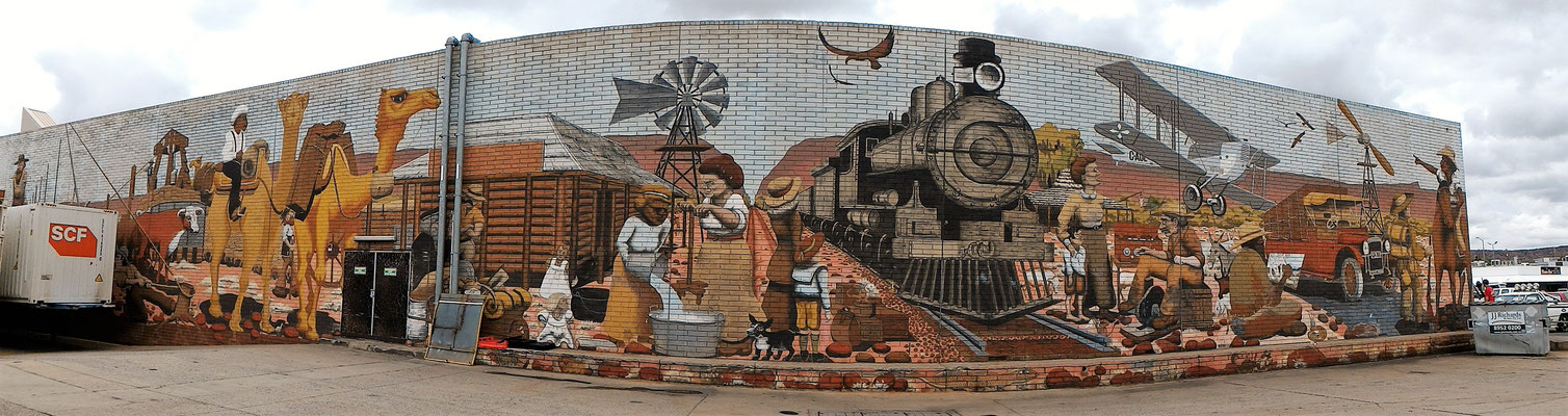 FRESQUE A ALICE SPRINGS AUSTRALIE