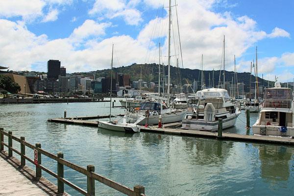 WELLINGTON DEPUIS PORT DE PLAISANCE ILE DU NORD NZ