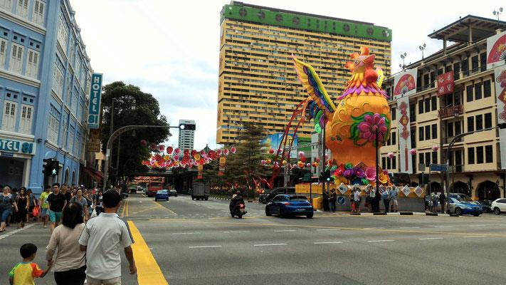 PREPARATIFS NOUVEL AN CHINOIS SUR CANTONMENT ROAD A CHINATOWN A SINGAPOUR