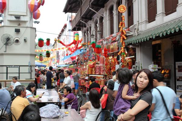 LE MARCHE DE L'AVANT NOUVEL AN CHINOIS A CHINATOWN A SINGAPOUR