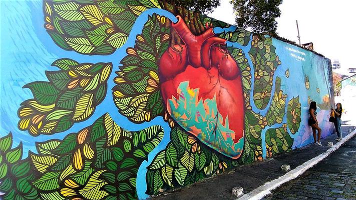 AU STREET ART BECO DE BATMAN QUARTIER VILA MADALENA A SAO PAULO BRESIL