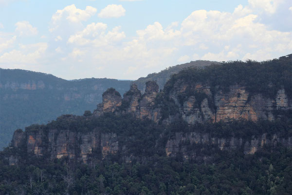 LES THREE SISTERS DEPUIS SUBLIME POINT LOOKOUT A LEURA LES BLUES MOUNTAINS NP AUSTRALIE