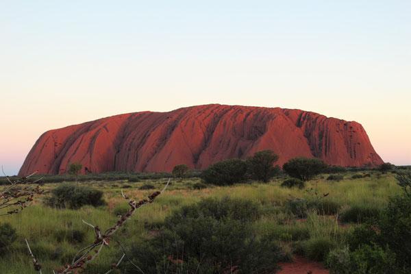 ULURU DEPUIS ZONE COUCHER SOLEIL NORD-OUEST NP ULURU KATA TJUTA NOUTH TERRITORY AUSTRALIE