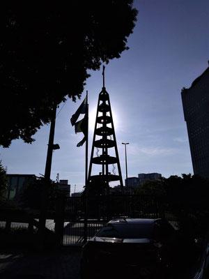 LE CLOCHER DE LA CATHEDRALE DE RIO DE JANEIRO BRESIL