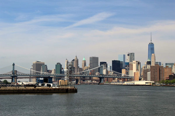 MANHATTAN, Ponts de MANHATTAN et BROOKLYN depuis BROOKLYN
