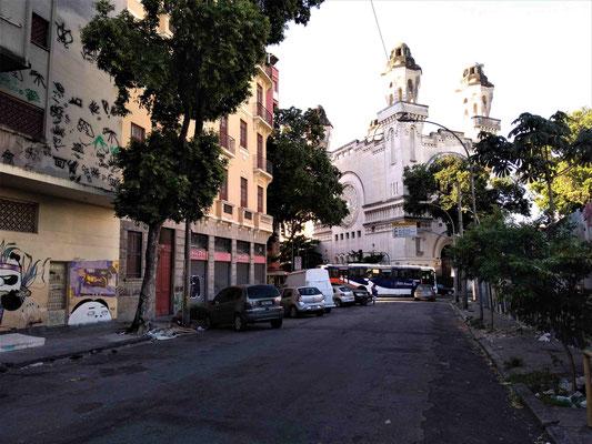 LA SYNAGOGUE ORTHODOXE PRES DE NOTRE LOGEMENT QUARTIER CENTRO A RIO DE JANEIRO BRESIL