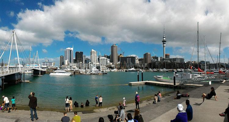 LE CENTRE ET LE PORT DEPUIS QUARTIER DE WYNYARD AUCKLAND ILE DU NORD NZ