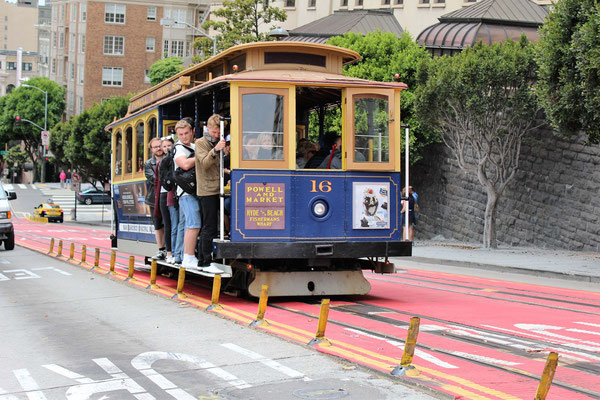LE CABLE DANS MASON STREET SAN FRANCISCO CALIFORNIE