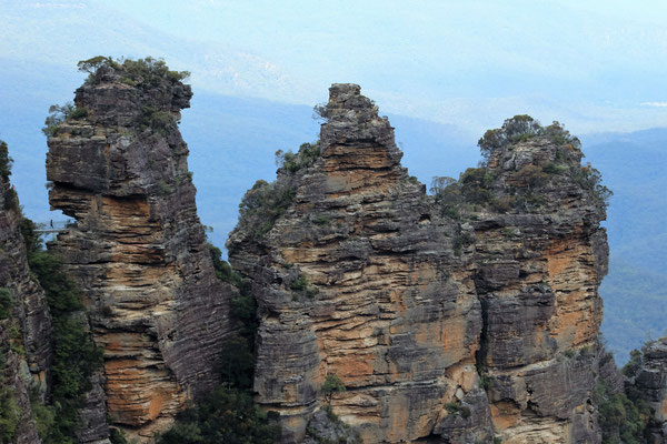 LES THREE SISTERS DEPUIS ECHO POINT A KATOOMBA LES BLUES MOUNTAINS NP AUSTRALIE