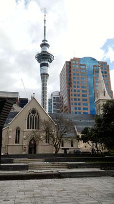 CATHEDRALE SAINT PATRICK ET SKY CITY AUCKLAND ILE DU NORD NZ