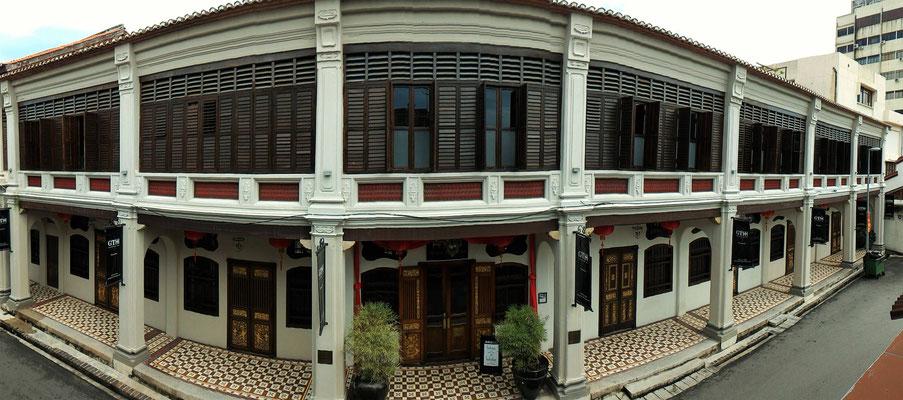 L'HOTEL SEVEN TERRACES DEPUIS LA SALLE DE BAIN DE NOTRE GUEST A GEORGETOWN ILE DE PENANG MALAISIE