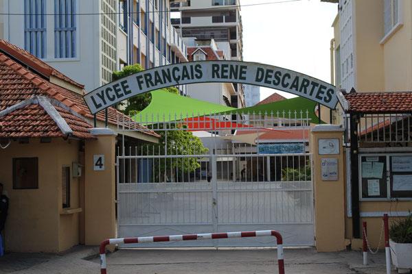 LE LYCEE FRANCAIS RENE DESCARTES A PHNOM PHEN AU CAMBODGE