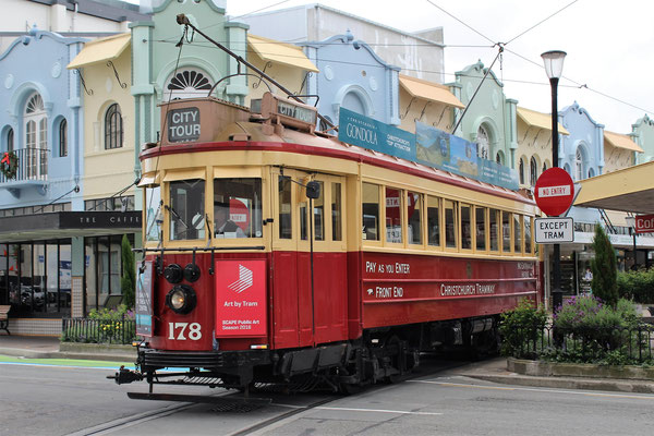 TRAM A CATHEDRALE JONCTION CHRISTCHURCH ILE DU SUD NZ