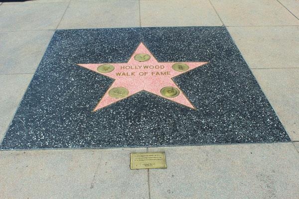 WALK OF FAME LA PREMIERE ETOILE COTE OUEST HOLLYWOOD LOS ANGELES CALOFORNIE