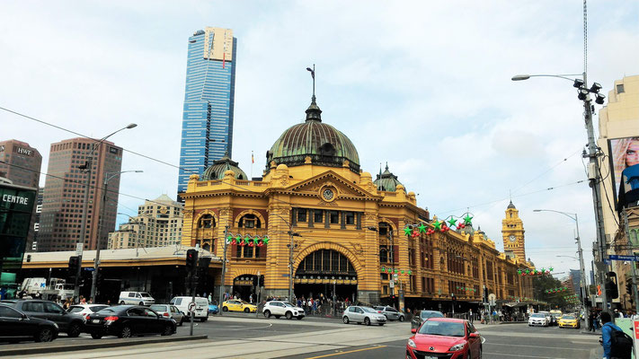 GARE ET QUARTIER SUD DE MELBOURNE AUSTRALIE