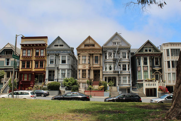 MAISONS VICTORIENNES EN BORDURE DU GOLDEN GATES PARK SAN FRANCISCO CALIFORNIE