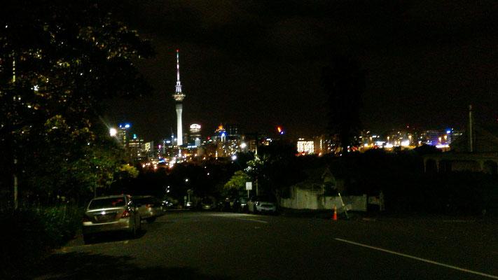 AUCKLAND DE NUIT DEPUIS PONSONBY NZ