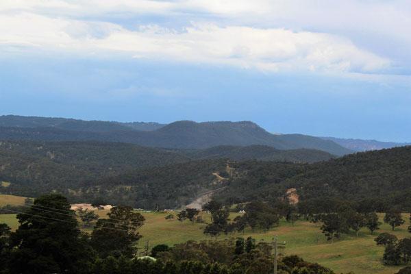 VUE SUR LES BLUES MOUNTAINS ENTRE KATOOMBA ET OBERON NOUVELLE GALLES DU SUD AUSTRALIE