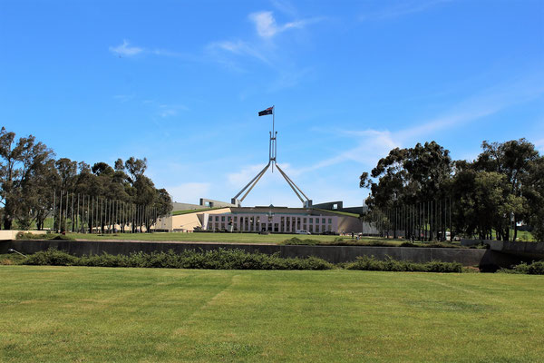 CAPITAL HILL BATIMENT DU PARLEMENT AUSTRALIEN ET THE MALL CANBERRA AUTRALIE