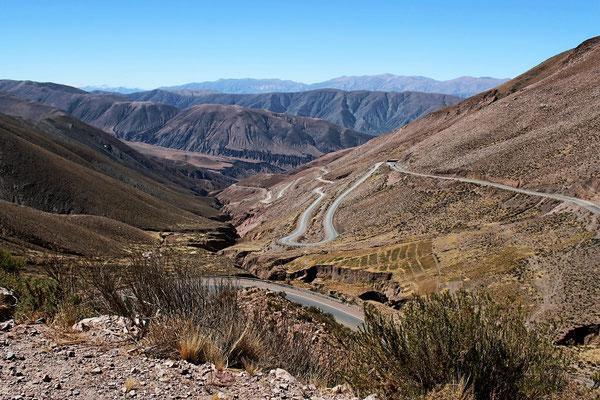MONTEE DU COL DE POTRILLOS 4157 M SUR ROUTE NORD SALTA ARGENTINE