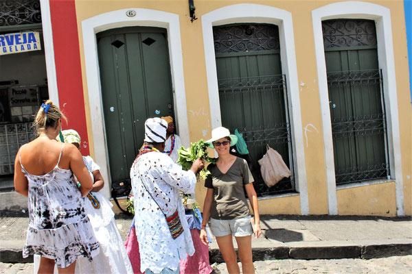 SUR LA PLACE  PELOURINHO AU CENTRE HISTORIQUE DE SALVADOR