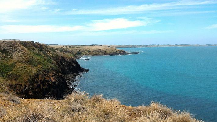 LA COTE SUD VUE DE PYRAMID ROCK A PHILLIP ISLAND VICTORIA AUSTRALIE