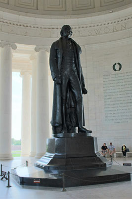STATUE DE THOMAS JEFFERSON A SON MEMORIAL