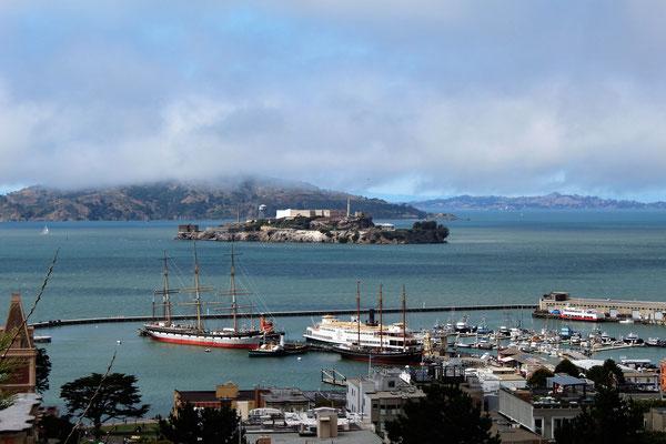 VUE SUR ALCATRAZ DEPUIS TAYLOR STREET SAN FRANCISCO CALIFORNIE