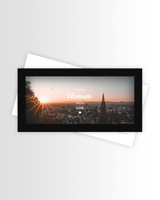 Freiburg Postkarte Panorama