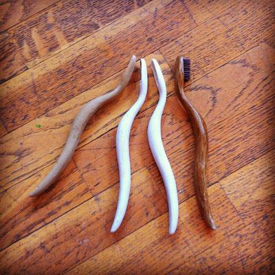 essais de patines, finalement elle sera en bois clair et doré