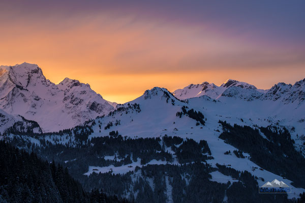 Sun rise in the Alps