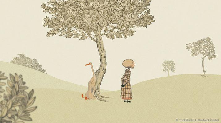 """""""Ente, Tod und Tulpe"""" (Buchverfilmung) - Hintergrund- und ergänzendes Charakter-Design"""