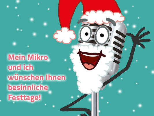 Digitale Weihnachtskarte für die Sprecherin Cosima Ertl (cosima-ertl.de); microphone designed by macrovector / Freepik (freepik.com)