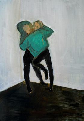 """""""love"""", acryl und öl auf kaschierter malpappe, ca.60x40cm, 2016"""