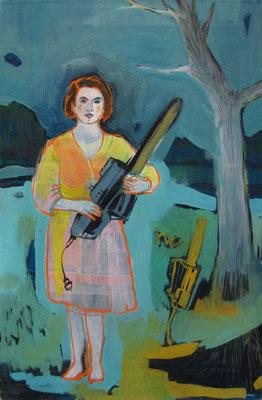 """good woman"", öl auf leinwand, ca. 80x40 cm"