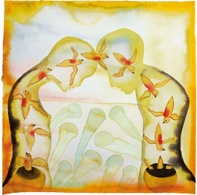 "Inspiration - Francesco Clemente - After Attar's ""The Conference of the Bird"", V"