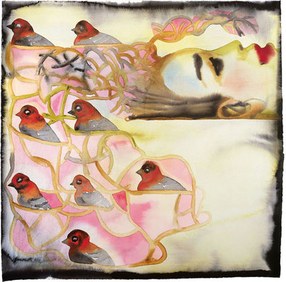 "Inspiration - Francesco Clemente -  After Attar's ""The Conference of the Bird"", II"