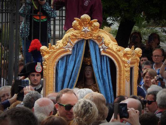 La Madonna pronta al pellegrinaggio a Merino