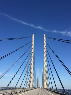 Öresundbrücke von DK nach Schweden