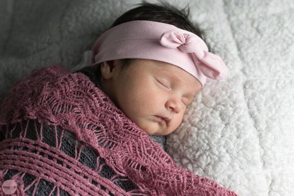 Baby schläft im studio