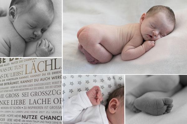 Collage von Baby