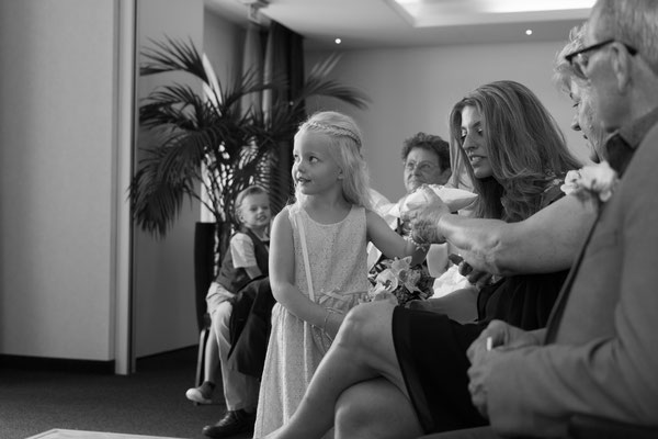Hochzeitsfotografie Schwarz weiß Bild