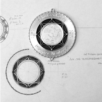 Schützenplakette in 925 Silber