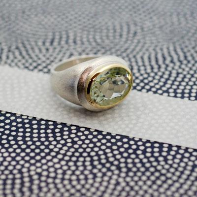 Ring 925/- Silber mit Prasiolith